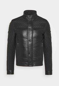 CLASS MAN - Leather jacket - black