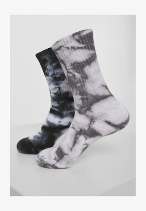 Socks - black   grey