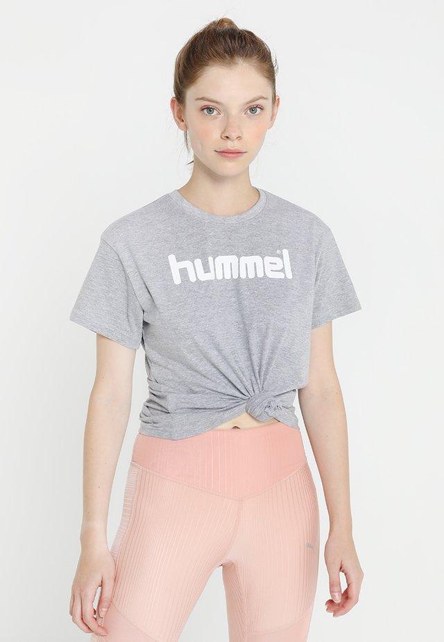 GO LOGO WOMAN - T-shirt imprimé - grey melange