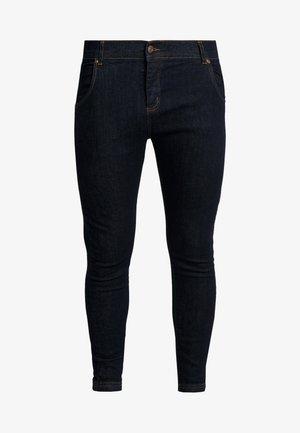 Skinny džíny - raw indigo