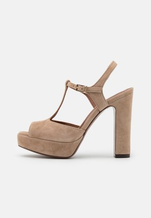 T BAR - Platform sandals - beige