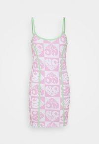 NEW girl ORDER - HEART REPEAT LOGO DRESS - Day dress - pink - 4