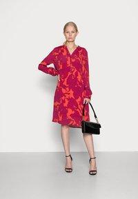 Emily van den Bergh - DRESS - Shirt dress - pink red - 1