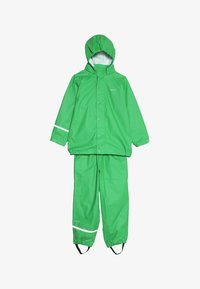 CeLaVi - BASIC RAINWEAR SUIT SOLID - Regnbukser - green - 7