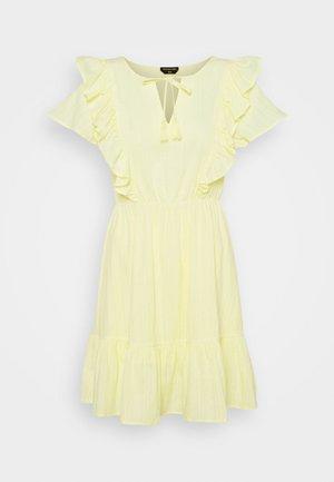 VIVA RUFFLE MINI DRESS - Cocktail dress / Party dress - yellow