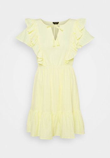 VIVA RUFFLE MINI DRESS - Robe de soirée - yellow