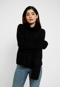 Missguided Petite - BATWING - Pullover - black - 0