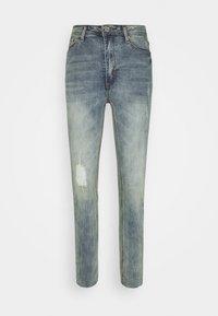 Missguided Petite - SINNER SINGLE KNEE RIP  - Jeans Skinny Fit - vintage wash - 3