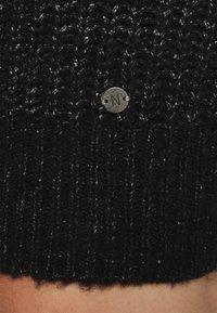 Noisy May Curve - NMROBINA HIGH NECK DRESS  - Jumper dress - dark grey melange - 6