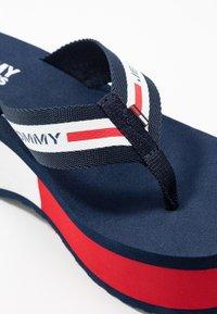 Tommy Jeans - CHUNKY TAPE BEACH SANDAL - T-bar sandals - twilight navy - 2