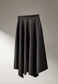Massimo Dutti - MIT ZACKEN AM SAUM - Spódnica trapezowa - dark grey - 2