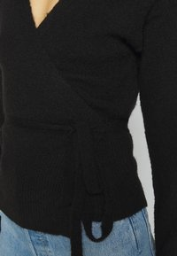 Kaffe - KAWENDY WRAP CARDIGAN - Cardigan - black deep