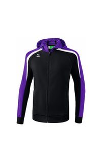 Erima - LIGA 2.0 TRAININGSKAPUZENJACKE KINDER - Training jacket - schwarz / violet