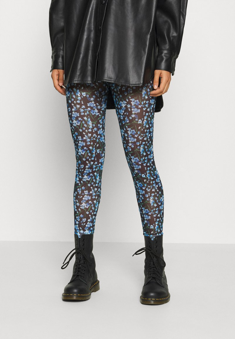 YAS - YASMILANA  - Leggings - black/blue