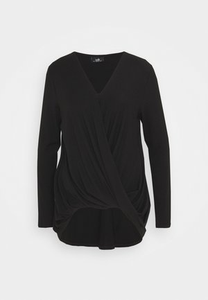 TWIST KNITTY TOP - Blouse - black