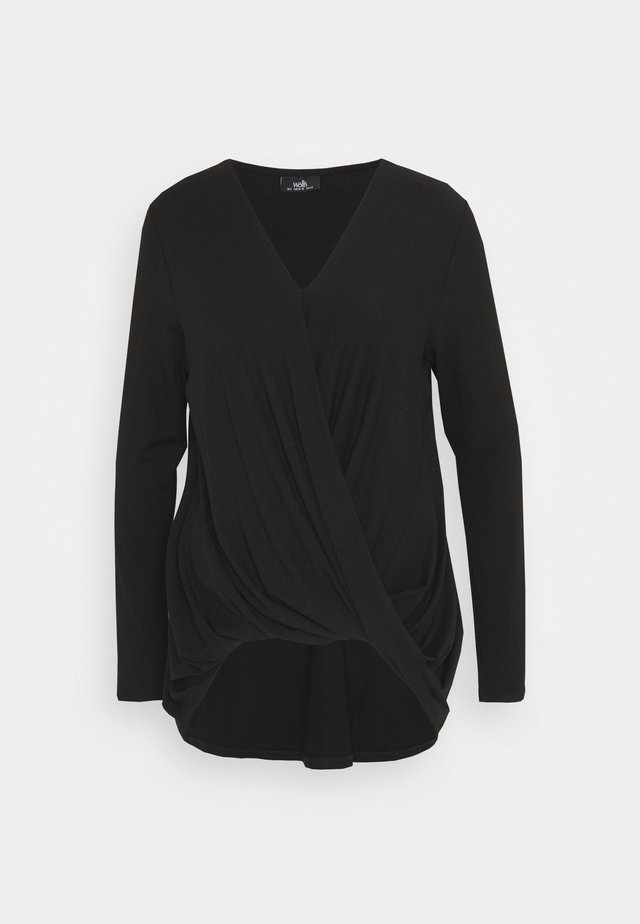 TWIST KNITTY TOP - Bluzka - black