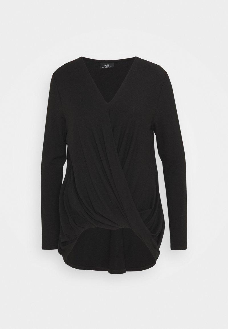 Wallis - TWIST KNITTY TOP - Blouse - black