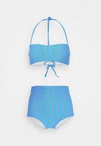 BELLA TALAIA FIXED SET - Bikini - blue/white