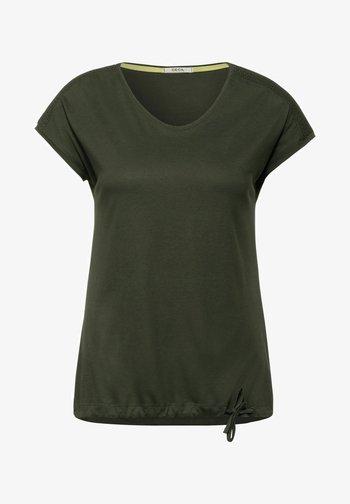 MIT SMOK-DETAILS - Basic T-shirt - grün