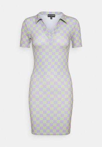 CHECKERBOARD DRESS - Jersey dress - multi