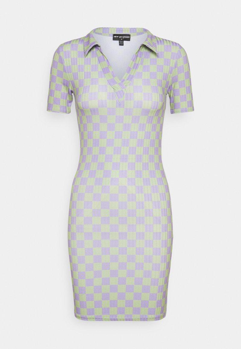 NEW girl ORDER - CHECKERBOARD DRESS - Jersey dress - multi