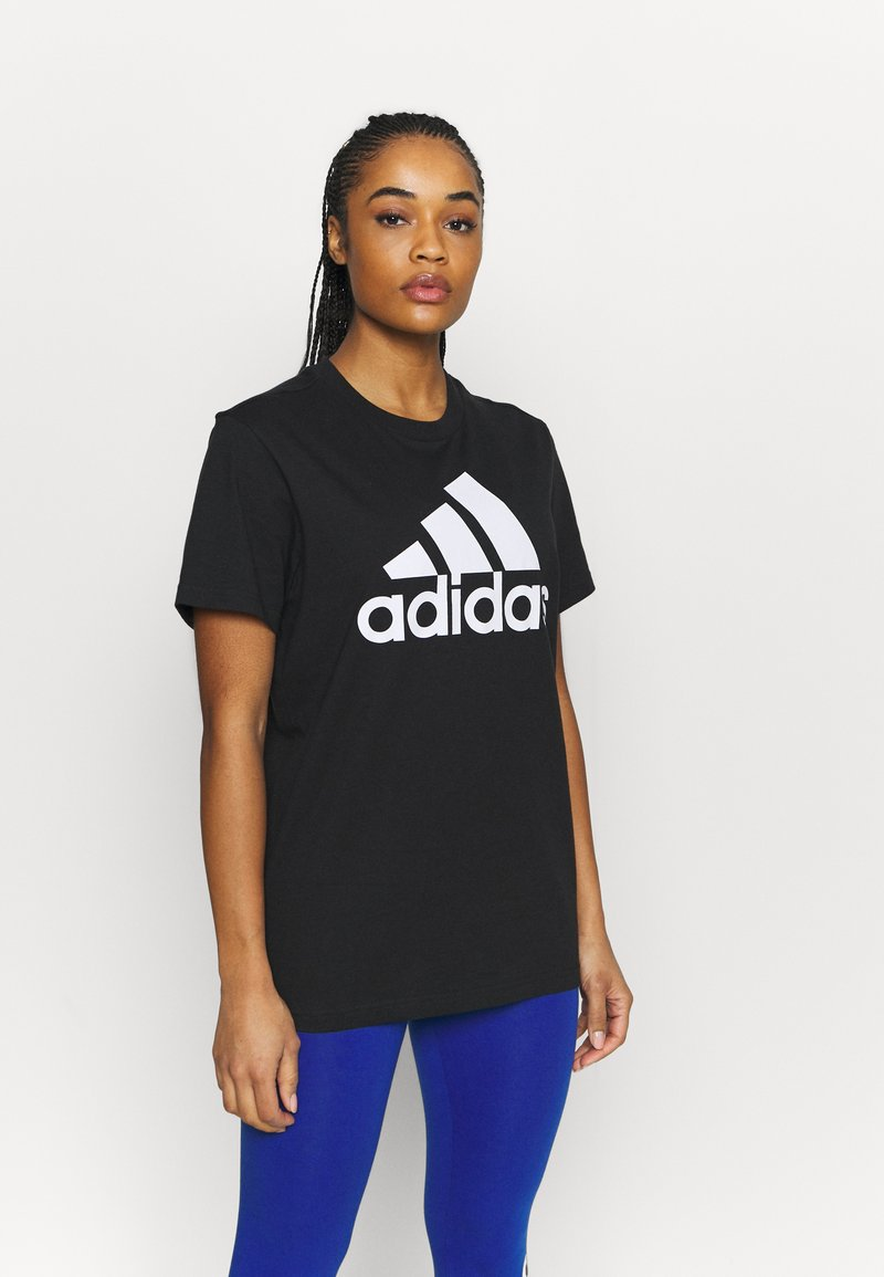 adidas Performance - T-shirts med print - black/white