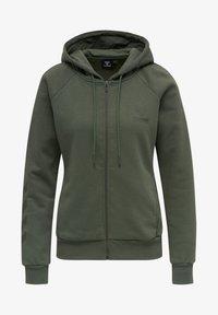 Hummel - HMLNONI  - Zip-up sweatshirt - beetle - 3
