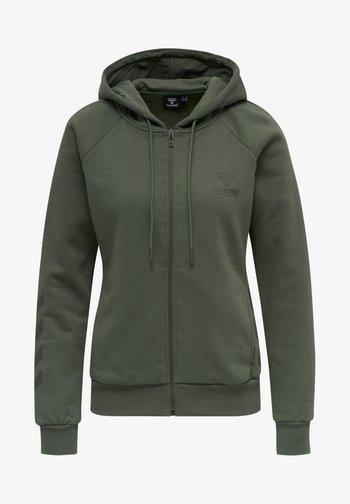 HMLNONI  - Zip-up sweatshirt - beetle