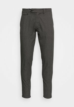 CHECKED CLUB PANTS - Tygbyxor - grey