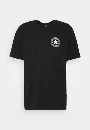 PUFFED CHUCK PATCH SHORT SLEEVE TEE - Print T-shirt - black