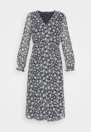 CALF DRESS - Vestido camisero - navy blazer