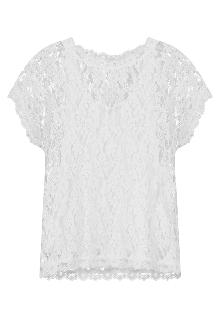 Hvit  Bella bluse  Cream  Bluser - Dameklær er billig