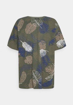 PALM O NECK TEE - T-shirt med print - army
