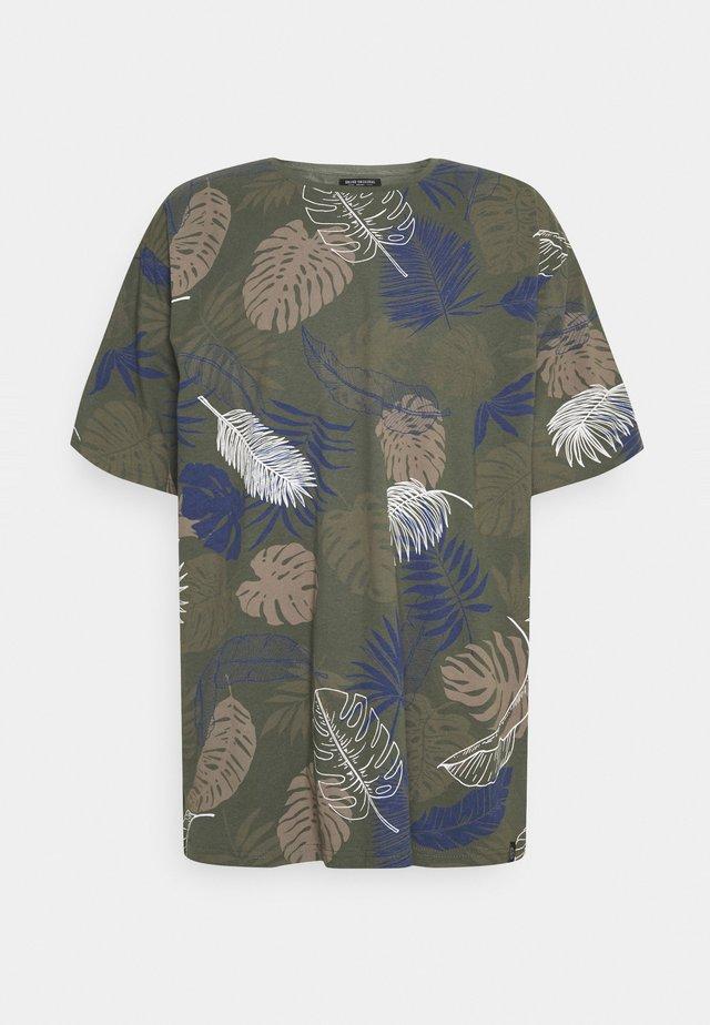 PALM O NECK TEE - T-shirt print - army