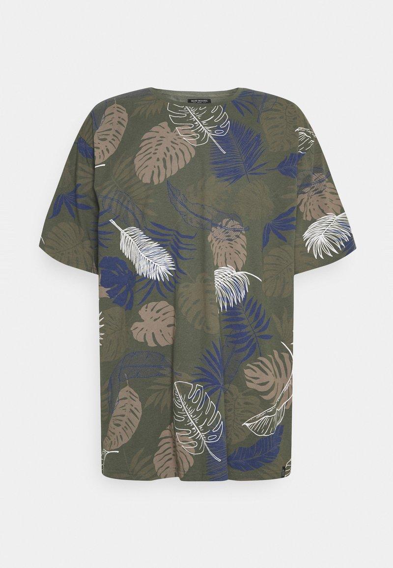 Shine Original - PALM O NECK TEE - Print T-shirt - army