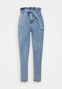 ONLY - ONLJANE PAPERBAG BELT - Relaxed fit jeans - light-blue denim - 5