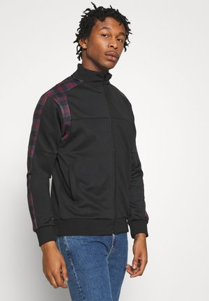 Sweatjacke - black/ red