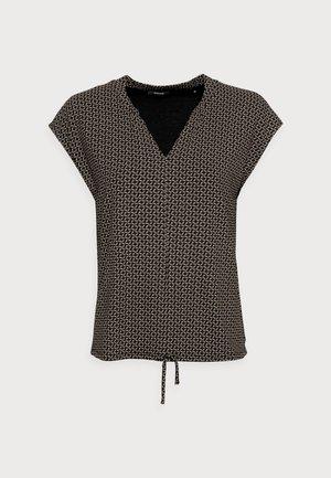 SANDEO GEOMETRIC - Print T-shirt - black