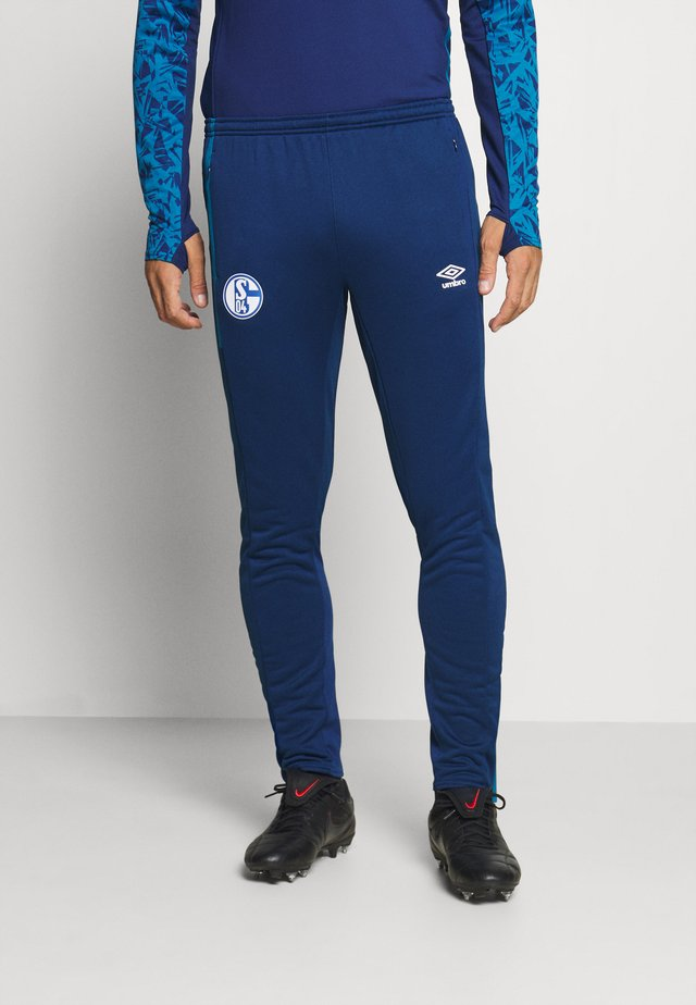 FC SCHALKE 04 TAPERED PANT - Article de supporter - navy/blue sapphire