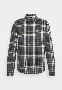 ALMAR - Shirt - stone grey/offwhite/mosstone
