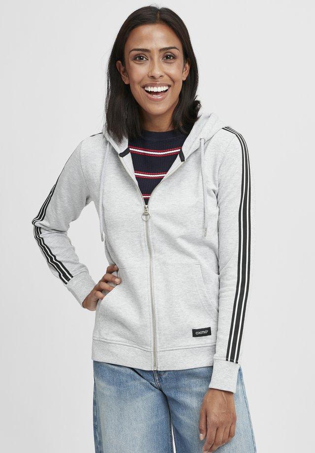 GABBY - Sweater met rits - light grey melange