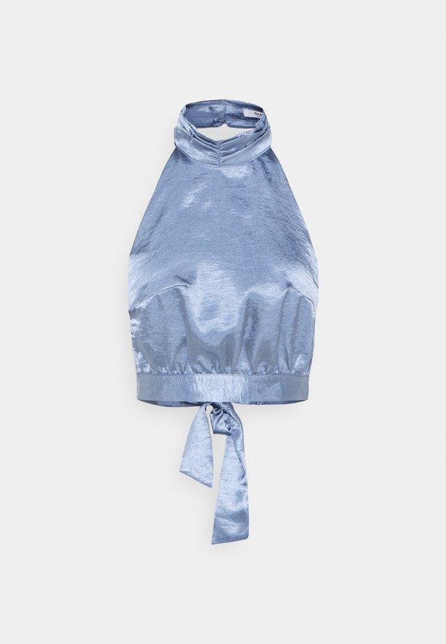 HALTERNECK CROP - Bluser - blue
