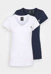 G-Star - EYBEN SLIM 2 PACK - Basic T-shirt - sartho blue/white - 4