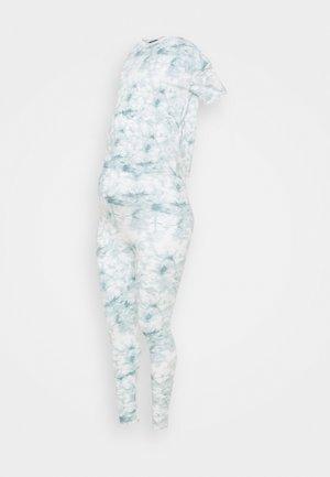 MATERNITY LEGGINGS AND SHIRT - Pyžamová sada - blue