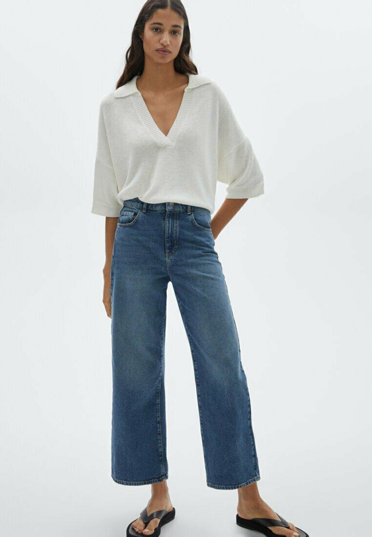 Massimo Dutti - Flared Jeans - dark blue