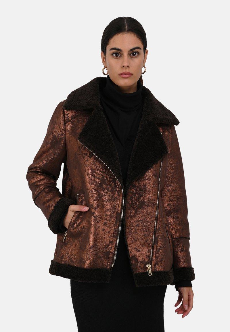Oakwood - Faux leather jacket - chestnut