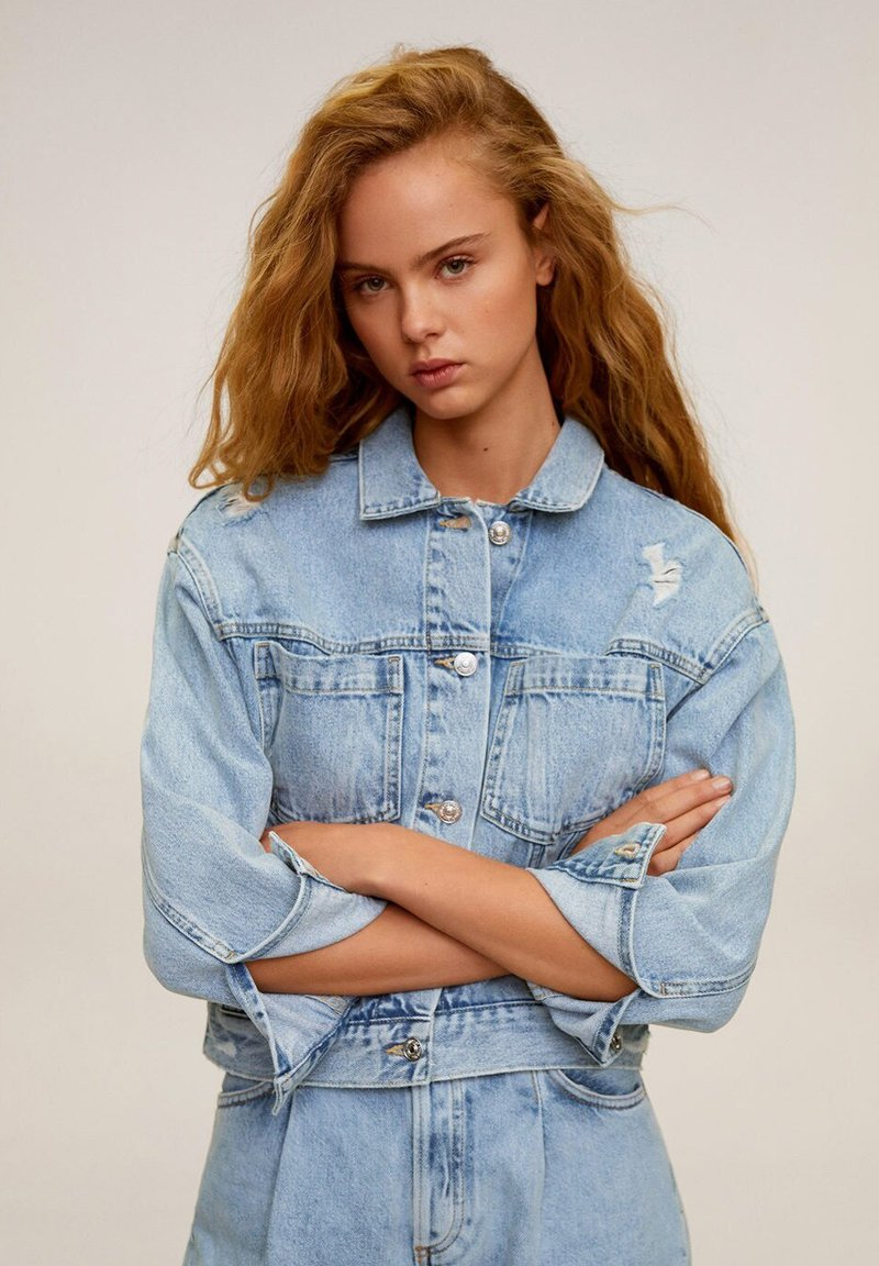 Mango - FIONA - Kurtka jeansowa - blu medio