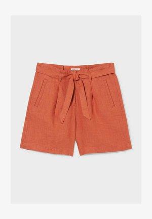 LEINEN - Shorts - dark red
