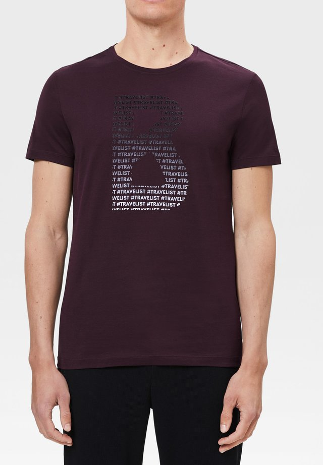 ROC - T-shirt imprimé - pflaumen-rot
