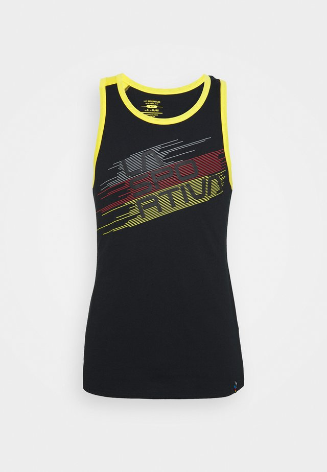 STRIPE TANK  - Top - black/yellow